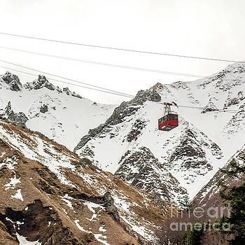 Cable car in Puy de Sancy. Auvergne. France by Bernard Jaubert