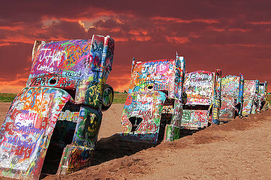 Cadillac Ranch by Carolyn Dalessandro