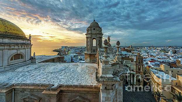 Cadiz Cathedral View from Levante Tower Cadiz Spain by Pablo Avanzini