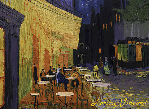 Cafe Terrace at Night by Marlena Jopyk-Misiak