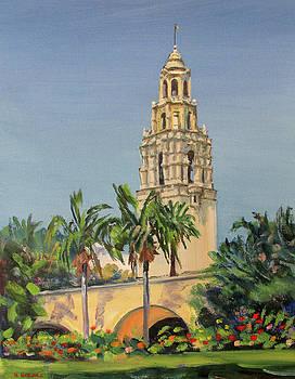 California Tower Balboa Park, San Diego by Robert Gerdes