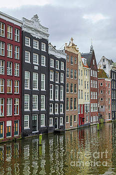 Canal houses in Amsterdam by Patricia Hofmeester