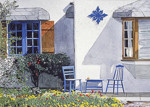 Carmel Cottage With Orange by David Lloyd Glover