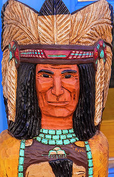 Carved Wooden Indian by Garry Gay