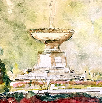 Cass Gilbert Fountain Ridgefield Ct. by David  Llanos
