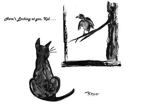 Cat and Bird  by Betty Pieper