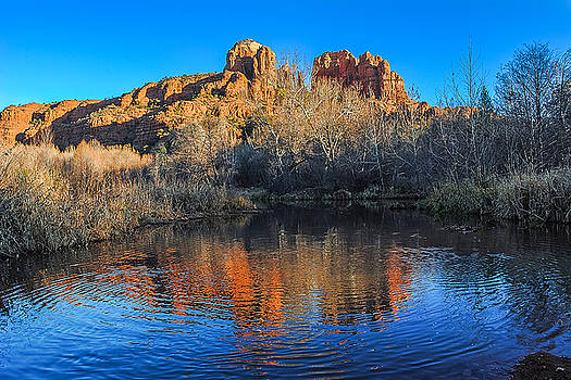 Cathedral Rock, Reflection - 4 by Tom Clark