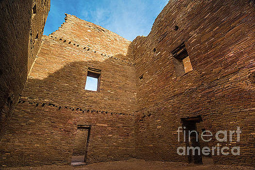 Chaco Canyon - Pueblo Bonito - Multi-Story Room 2 - New Mexico by Gary Whitton