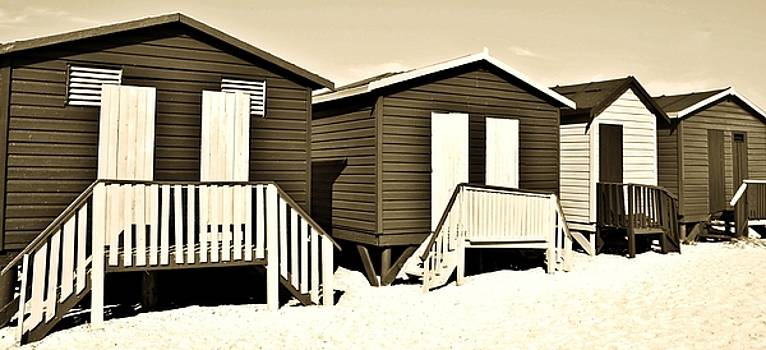 changing Huts in sepia by Werner Lehmann