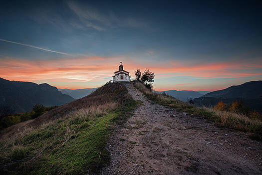Chapel on the hill by Evgeni Ivanov