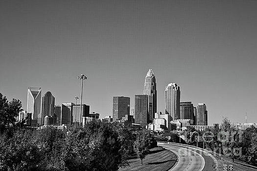 Jill Lang - Charlotte Skyline in Black and White