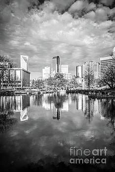 Paul Velgos - Charlotte Skyline Reflection on Marshall Park Pond