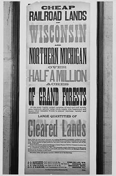 Chicago and North Western Historical Society - Cheap Railroad Lands Poster