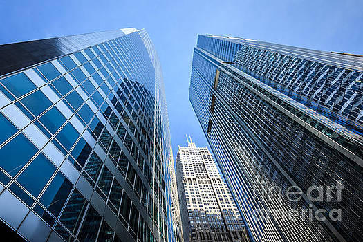 Paul Velgos - Chicago Downtown City Office Buildings Upward View