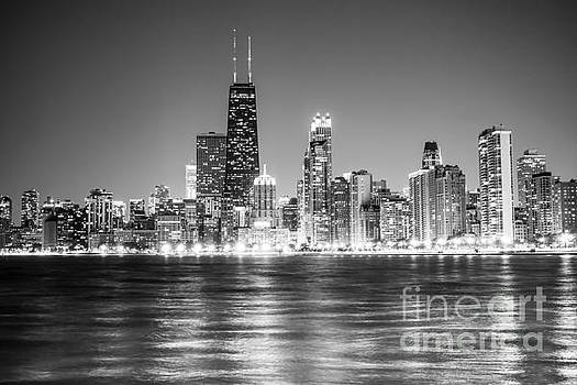 Paul Velgos - Chicago Lakefront Skyline Black and White Photo