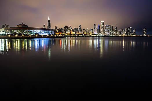 Chicago Night Skyline  by Sven Brogren