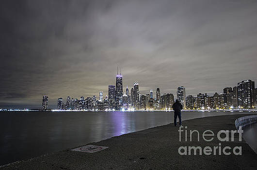 Chicago Skyline at night by Keith Kapple