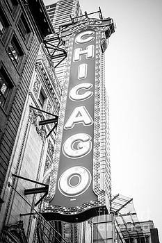 Paul Velgos - Chicago Theatre Sign Black and White Photo