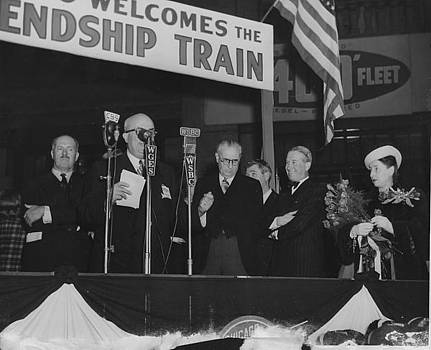 Chicago and North Western Historical Society - Chicago Welcomes the Friendship Train - 1947