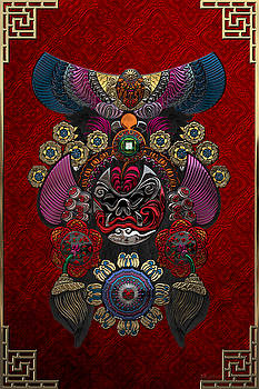 Serge Averbukh - Chinese Masks - Large Masks Series - The Demon