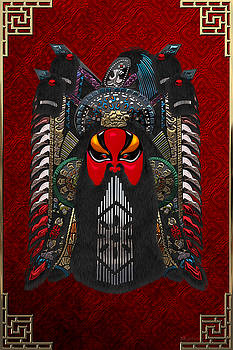 Chinese Masks - Large Masks Series - The Red Face by Serge Averbukh