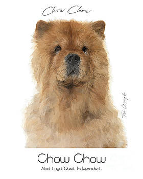 Chow Chow Poster by Tim Wemple