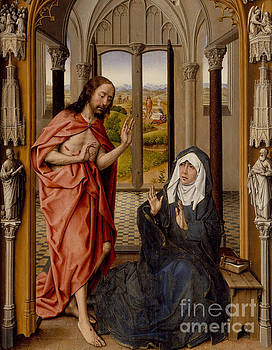 Christ Appearing to his Mother by Juan de Flandes