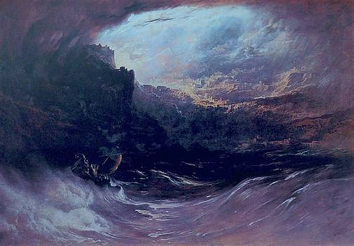Christ Stilleth The Tempest by Troy Caperton