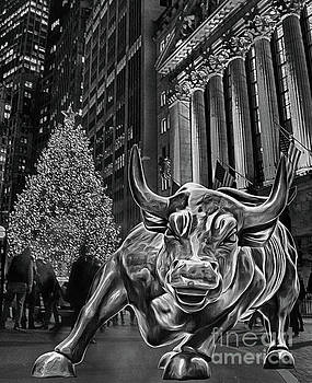 Christmas on Wall Street featuring New York Stock Exchange and C by Nishanth Gopinathan