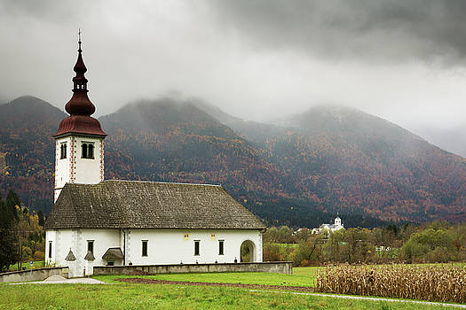 Church just outside Bohinjska Bistrica by Ian Middleton