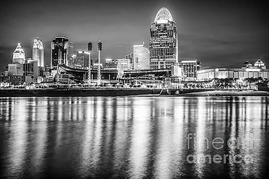 Paul Velgos - Cincinnati Skyline Black and White Picture