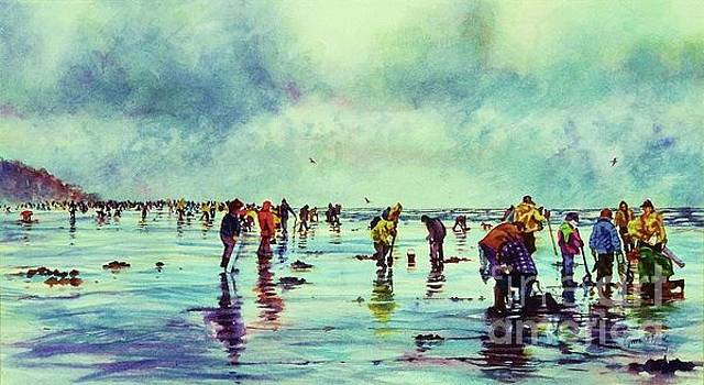 Clamdiggers Beachscape by Cynthia Pride