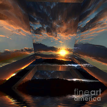 Cloud Sunrays Reflections 23c by Elaine Hunter