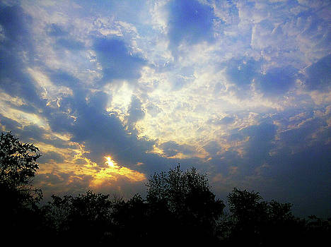 Cloudy sunrise by Atullya N Srivastava