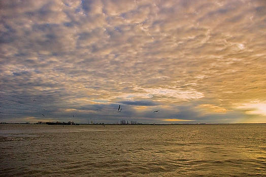 Cloudy sunrise by Robert Brown