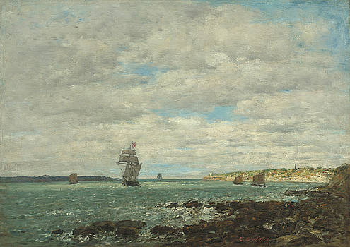 Coast Of Brittany by Eugene Boudin