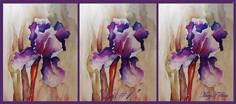 COFFEE MUG Iris 1 by Mary Silvia