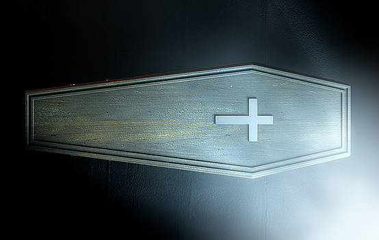 Coffin And Crucifix by Allan Swart