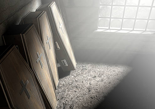 Coffin Row In A Room by Allan Swart