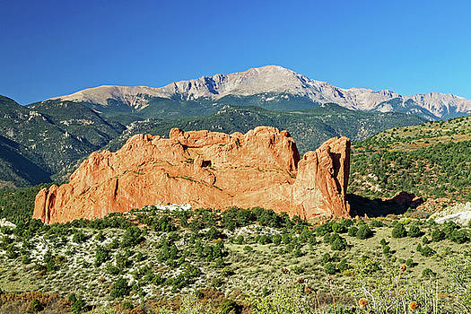 Colorado Springs Scene by Richard Risely