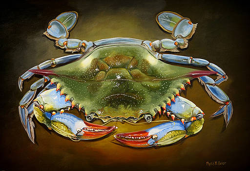 Colorful Blue Crab by Phyllis Beiser