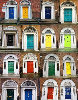 Patricia Hofmeester - Colorful doors collage