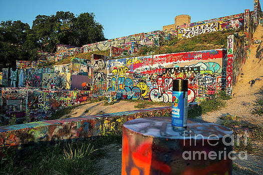 Herronstock Prints - Colorful graffiti art covers the walls of the popular Hope Outdoor Gallery in downtown Austin