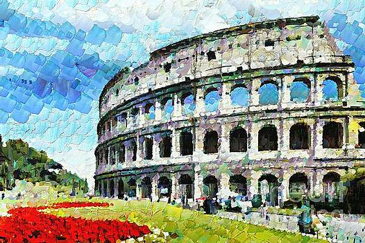 Colosseum Arched Windows 2 by Stefano Senise