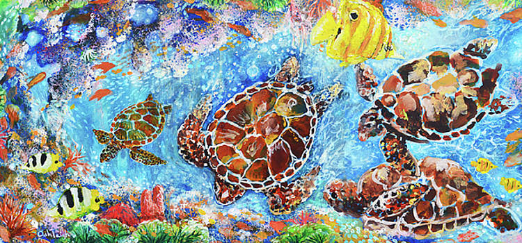 Come and Swim With Me  Message from Sea Turtles and Fishies under the Sea by Ashleigh Dyan Bayer