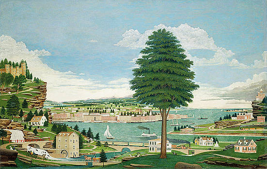 Jurgan Frederick Huge - Composite Harbor Scene with Castle