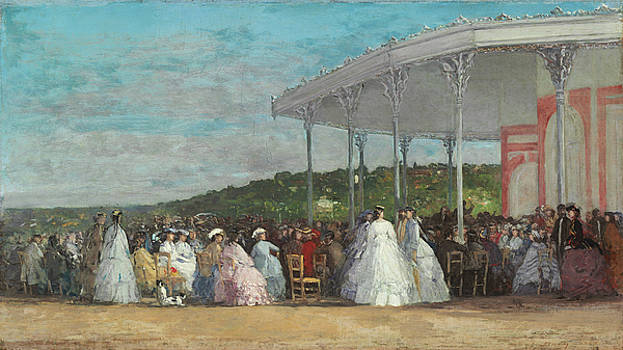 Concert At The Casino Of Deauville by Eugene Boudin