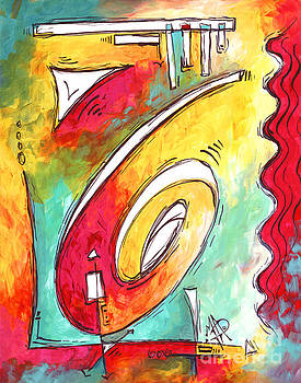 Contemporary Abstract PoP Art Style Original Painting Enjoy Life by Megan Duncanson by Megan Duncanson