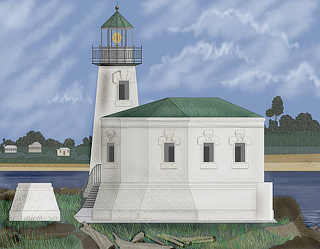 Coquille River Lighthouse at Bandon Oregon by Anne Norskog