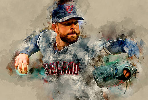 Corey Kluber by Marvin Blaine